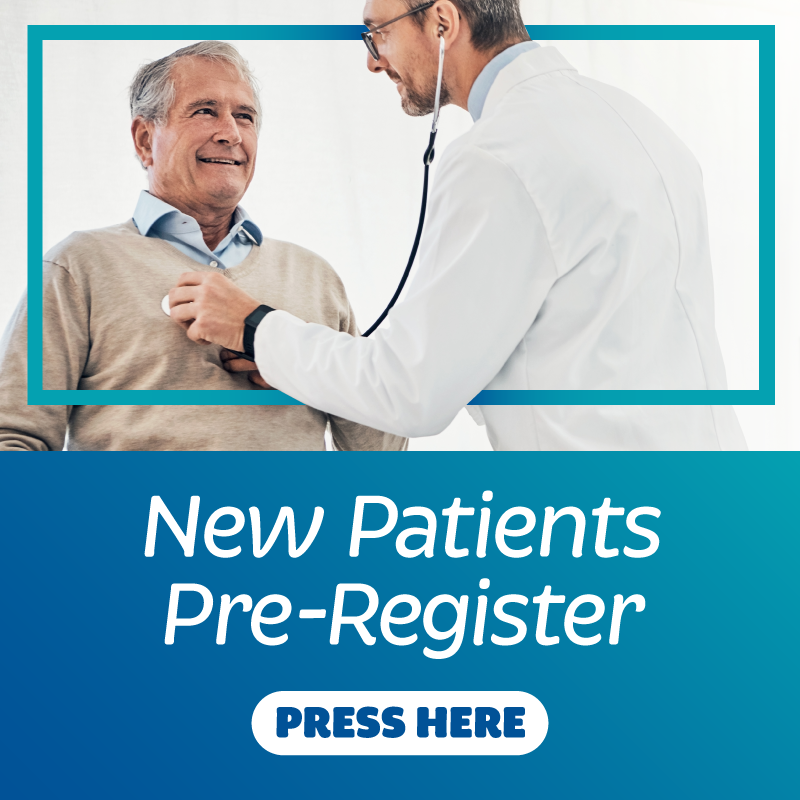 New Patients pre-registration banner